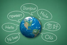 globe with hello in different languages