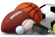 athletic balls clipart