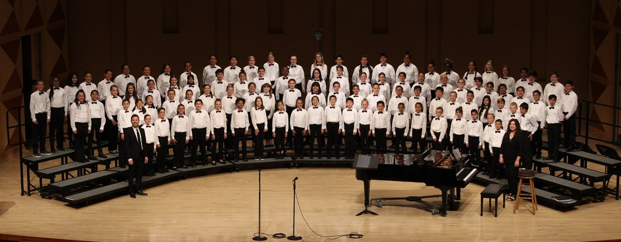 Maple Creek choir performing on stage